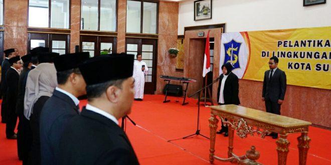 Promosi dan Rotasi 82 Pejabat Pemkot Surabaya Dilantik