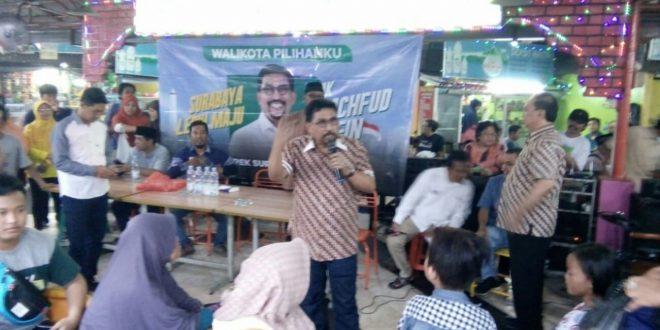 Machfud Arifin Gelar Cangkruan, Ini Harapan Warga Keputran Kejambon